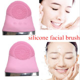 Produto de limpeza de rosto eléctrico com poros de vibrar Limpar a escova de limpeza de Silicone Massajador Vibração Facial cuidado da pele SPA massajador