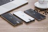최신 판매 Qi 무선 충전기 휴대용 무선 힘 은행 무선 비용을 부과 패드 10000mAh 힘