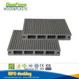 O composto de plástico de madeira oco ranhurada WPC piso exterior em deck