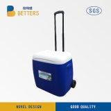 제조 80L 바퀴를 가진 휴대용 플라스틱 냉각기 음식 상자