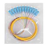 Treccia del cavo della fibra di colori di Optik SC/PC MP 12 della fibra della Cina