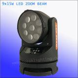 전문가 9X15W 4in1 세척 광속 급상승 LED 이동하는 맨 위 빛