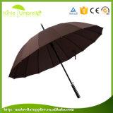 Paraplu van de Regen van de bevordering de Rechte Wind met het Embleem van de Druk