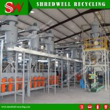 Fábrica de pó de borracha produtivo para a reciclagem de resíduos e desperdícios de/pneu usado