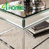 Mesa de centro del acero inoxidable de los muebles del espejo con el espejo claro
