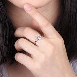 Elegante Ring 925 van het Zirkoon van Aaaaa van de Stijl Zuivere Echte Zilveren