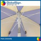 Anunciando o guarda-chuva impresso costume do pátio do parasol de Sun dos guarda-chuvas de praia
