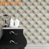 Papier peint moderne Guangzhou prix bon marché Décoration maison 3D en vinyle PVC Le papier peint