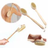 Escova extremamente longa do banho do punho de Brusybrush - punho da madeira de faia e cabeça natural da cerda do varrão - o melhor corpo esfrega a escova Exfoliating