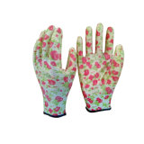 Configuration de fleur de gants de travail de jardin de nitriles de protection de main de prix usine