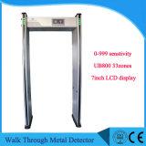옥외를 위한 금속 탐지기 사용을%s 7inch LCD 디스플레이 도보