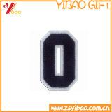 Les correctifs de Chenille de broderie personnalisée Numéro de la frontière et des lettres chiffon Conception coudre sur vêtement Patch (YB-E-044)