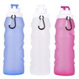 La FDA a adopté à la sécurité durables Non-Toxic bouteille d'eau de silicone de pliage 550ml