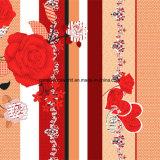 100%Polyester rote Rose 3D Zerstreung druckte Gewebe für Bettwäsche-Set