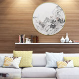 [هد] منظر طبيعيّ نوع خيش عمل فنّيّ طبعة صورة مع إطار لأنّ زخرفة بينيّة