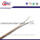 Чистый медный провод 2X1.5mm прозрачных говорить кабель