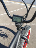 Retro 250W/500W 7speed 또는 포도 수확 또는 향수 26in X4 바닷가 함 넓거나 뚱뚱한 타이어 E 자전거 또는 뚱뚱한 타이어 전기 Bicycle/E 눈 Pedelec 또는 지방 자전거 백색 벽 타이어