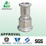 A tubulação em aço inoxidável de alta qualidade em aço inoxidável sanitárias 304 316 Pressione Montar Válvulas de água e acessórios para tubos de banho no conector da mangueira hidráulica