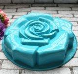 Moulage de traitement au four de gâteau de forme de Rose de silicones de catégorie comestible grand