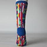 Männliche glückliche Socken-Knie-hohe Socken der reinen Baumwollstrumpf-Männer