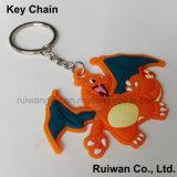 3D Movistar Keychain de borracha feito sob encomenda para a lembrança, borracha relativa à promoção de Keychain