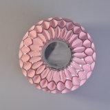 Kleiner runder rosafarbener Glas-Mosaik-Glas-Kerze-Großhandelshalter