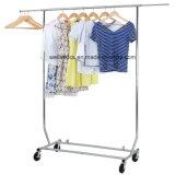 Съемные регулируемые для тяжелого режима работы хром металлический одежды Одежда висящих для установки в стойку