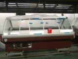 De Stop van de supermarkt in de Koelkast van de Vertoning van de Delicatessenwinkel van het Glas van de Kromme