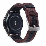 Faixa de relógio de Nylon forte com alça em pele genuína para a engrenagem Samsung S3
