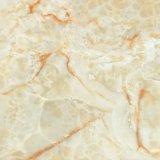 Gelbe Farben-Innenbaumaterial-voll polierte glasig-glänzende Porzellan-Fliese für Fußboden