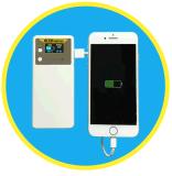 Chargeur de téléphone avec écran OLED et instructeur de laser