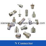 Mini conetor do RUÍDO 4.3-10 para 3/8 '' de cabo coaxial