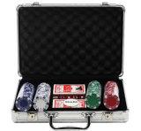 Chip de liga de alumínio portátil caso Caixa de Chip de póquer