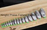 La pesca de peso de plomo frente platinas dividido extraíble Perdigones platinas
