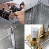 Insieme brandnew Dual-Function dell'acquazzone degli accessori della stanza da bagno della pioggia dell'acciaio inossidabile