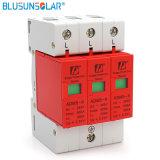 Rail DIN 35 mm de la foudre de protecteurs de surtension 80KA 3p 385V Dispositif de protection contre les surtensions