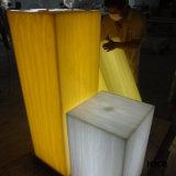 Feste lichtdurchlässige Steinoberflächenpanels der Dekoration-6mm