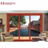 Porte coulissante des graines en bois en aluminium de bâti avec le prix raisonnable