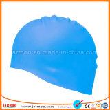 高い伸縮性の明るい無地のシリコーンの水泳帽