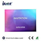 Cartão video do LCD de 5.0 polegadas usado para a companhia que anuncia com definição do indicador de 480*720 Px