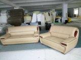 Sofà superiore del cuoio di prezzi all'ingrosso della fabbrica del grano per le forniture di ufficio (A838)