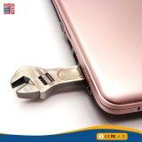 Palillo del USB de memoria Flash del mecanismo impulsor de Pendrive de la dimensión de una variable de la llave inglesa del metal del USB de la alta calidad