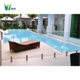 Низкое утюг плавательный бассейн с закаленным безрамные закаленного стекла ограждения