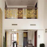 ホーム別荘のステンレス鋼のヨーロッパ式の切り分けられたガードレール