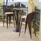 Комплект стула таблицы штанги напольного ротанга сада Wicker
