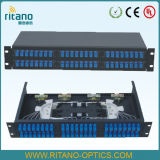 China Fornecedor Patch Panel para FTTH Council Caixa Terminal 48 SC duplex da porta/LC Adaptador com tampa transparente