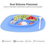Drôle de plaques de forme ovale Palcemat écologique en silicone