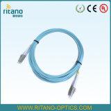 Ligação em ponte simples RoHS complacente da fibra da manutenção programada E2000-Mu