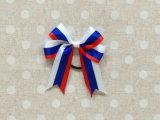 Grosgrainのリボンの赤ん坊の国旗のヘアークリップの弓/方法子供の毛のアクセサリの子供のHeadwearの毛