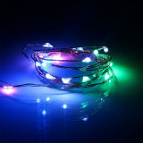 Романтический IP44 серебристый провод светодиодный индикатор строки для проведения свадеб/Группа/праздник